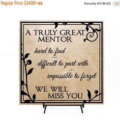 FALL SALE  A Truly Great Mentor  Personalized by LEVinyl on Etsy