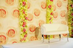 Flower Wall & Backdrop - Wedding, Mitzvah & Party Videography PA, NJ - mazelmoments.com