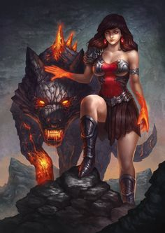 Lava lady by denn18art.deviantart.com on @DeviantArt - More at https://pinterest.com/supergirlsart/ #female #fantasy #art