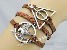 Mockingjay pin braceletHarry Potter braceletbrown by charmcover, $6.99