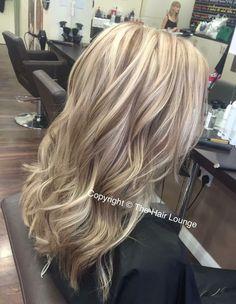 Blonde & caramel highlights