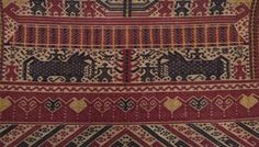 Image result for Tatibin ceremonial cloth Lampung Art Gallery, Family Units, Textiles, African Masks, My Land, Weaving Techniques, Ikat, 19th Century, Bohemian Rug