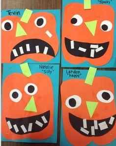 Preschool Pumpkin Jack o Lantern.  TONS of cute projects for your kiddos this Halloween season.