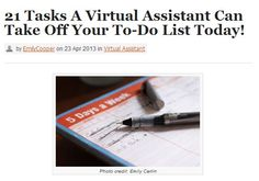 21 tasks a virtual assistant can do