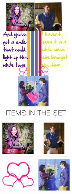 """""""BOTDF Season 3 - Round #6 - Ship"""" by is-it-hi-or-hey ❤ liked on Polyvore featuring art, battlegroup, ben, mal, Descendants and botdf306"""