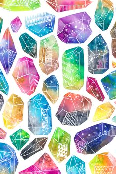 Crystal Drawing, Graffiti, Pretty Wallpapers, Watercolor Techniques, Art Background, Cool Drawings, Painting Inspiration, Watercolor Paintings, Illustration