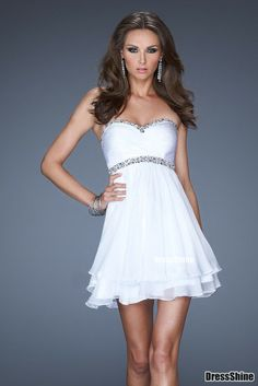 A-Line Sweetheart Chiffon and Sequins Short Prom Dress - HomeComing Dresses - Special Occasion Dresses