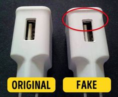 6Tips toHelp You Recognize Fake Gadgets Simple Life Hacks, Useful Life Hacks, Technology Gadgets, Tech Gadgets, Mobile Gadgets, Android Hacks, Tech Hacks, Phone Hacks, Pay Attention