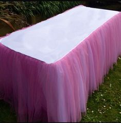 candy table tablecloth, Tulle tutu tablecloth, baby shower, wedding tablecloth, cake table, table cloth, bridal all colors available, SALE! by FantasyFabricDesigns on Etsy