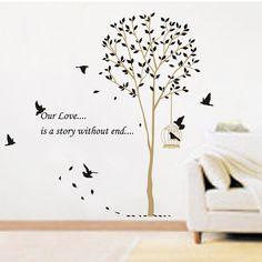 Cheap Ay9055 envío gratis extraíble vinilo pared pegatinas árbol y el pájaro decoración del hogar Giant Wall Decals, Compro Calidad Pegatinas de Pared directamente de los surtidores de China:             Bienvenido a nuestra tienda disfrutar de las compras!                                 Hola amigos,