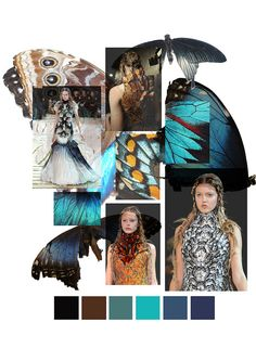 Research Images for Fashion Design (2) Surface Pattern Design Moodboard, Butterfly theme