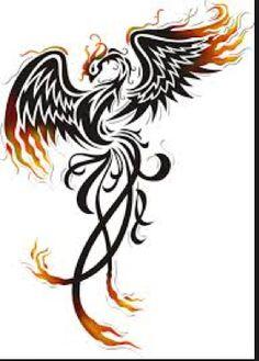 pheonix Tribal Phoenix Tattoo, Tribal Tattoos, Phoenix Tattoo Feminine, Phoenix Tattoo Design, Fenix Tattoos, Tattoo Sketches, Time Tattoos, New Tattoos, Sleeve Tattoos