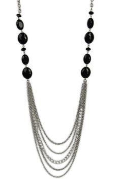 multi chain #necklace with bead stations   $9.37