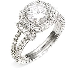 Jack Kelége Romance Cushion Set Diamond Semi Mount Ring www.finditforweddings.com  rings