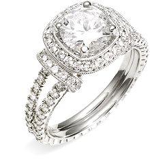 Jack Kelége Romance Cushion Set Diamond Semi Mount Ring www.finditforweddings.com  rings