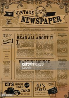 Editable old newspaper template one of a number of nice templates vintage newspaper template google search toneelgroepblik Images