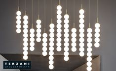 Abacus chandelier by Draw