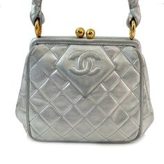 Authentic Chanel Metallic Silouis Vuittoner Small Lambskin Handbag  $900