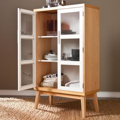 29 x 50 Glass Double Door Abie Storage Cabinet | World Market