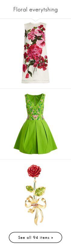 """Floral everytshing"" by lorika-borika on Polyvore featuring dresses, vestidos, платья, white, flower print dress, sleeveless shift dresses, flower dress, tulle dress, sleeveless floral dress и green dress"