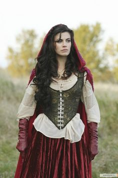 """Red, """"Once Upon A Time""""  [I've already found all the patterns and fabric--just need to figure out how to sew it!]"""