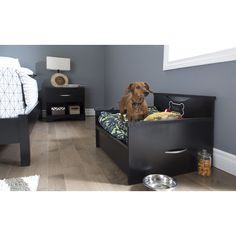 South Shore Step One Dog Bed with Storage and Cushion Cover & Reviews | Wayfair