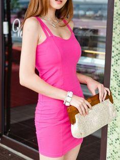 Sexy strap backless sleeveless dress