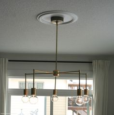 DIY with supply list White Chandelier, Chandelier Lighting, Diy Light Fixtures, All Of The Lights, Supply List, Modern Barn, White Butterfly, House Projects, Kitchens