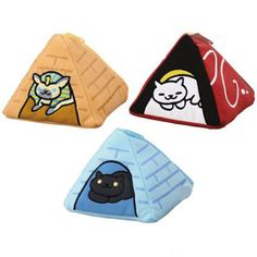 Neko Atsume Cat Kitty Collector Pyramid Pouch Bag Set of Three Japan in Collectables, Animation, Japanese/ Anime | eBay