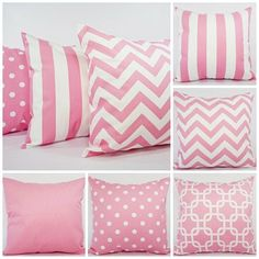Pick Two Baby Pink Throw Pillows  16 x 16 by CastawayCoveDecor, $28.00