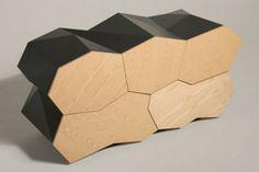 Minimalist and Futuristic Walnut Cabinet Furniture