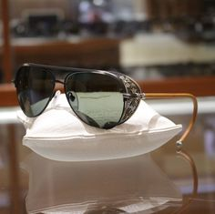 efbe66113064 Chrome Hearts 9070 Probasshole 🕶 - Antique Gold - Tan Leather - with Side  Shield