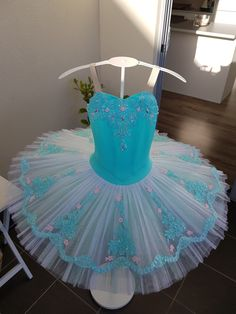 Mint Green White and pink Tutu by JeTutus