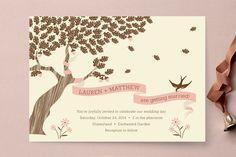 Under the Tree Wedding Invitations by Gakemi Art+Design at minted.com