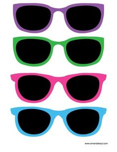 Glasses from Luau Printable Photo Booth Prop Set