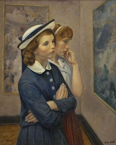 Girls at the Exhibition, 1964 by Leon Kroll