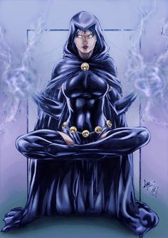 Raven (colors) by FantasticMystery on DeviantArt Comic Book Girl, Comic Book Heroes, Raven Color, Chica Gato Neko Anime, Raven Cosplay, Raven Beast Boy, Arte Dc Comics, Psy Art, Female Hero