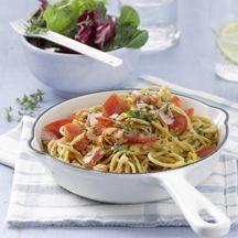 Schinkenspaghetti; Schnelle WW-Mahlzeit und sehr lecker