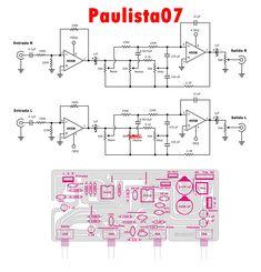 Pré amplificador estéreo | LCM WEB DESIGNER Ab Circuit, Circuit Diagram, Electronic Circuit Design, Circuit Board Design, Speaker Amplifier, Iphone 6, Susa, Surround Sound, Electronics Projects
