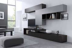 21 – Anime pictures to hairstyles Tv Unit Interior Design, Small House Interior Design, Home Room Design, Home Office Design, Living Room Wall Units, Living Room Tv Unit Designs, Home Living Room, Living Room Decor, Modern Tv Room