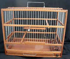 Bird Cage / Original Wooden Hand Crafted Cage; Slide Out Tray, Plexiglas