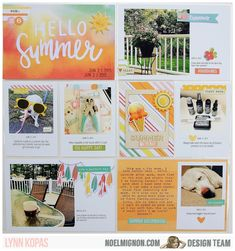 NoelMignon.com Layouts and Projects: More Summer Fun with the Pool Party Daily Diary Kit