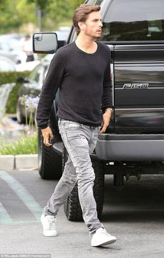 Keeping Up with the Kardashians' Scott Disick and his new Ford F-150 truck.