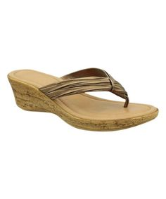 Look what I found on #zulily! Bronze Ruched Catarina Sandal by Bartolini #zulilyfinds