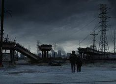 """On the Road Man and boy looking Food survive in abandoned homes, but it is not so easy, with the cold and lack of food in good condition . That changes about a quarter of the way into the book. A group of """"bad guys"""""""