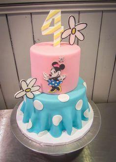 Vintage Minnie Mouse Birthday Cake