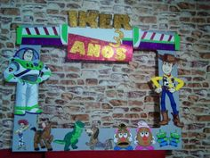 marco gigante para fiestas cuadro decorativo toy story