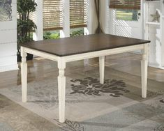 Whitesburg Collection Cottage Style Two Tone Finish Rectangular Dining Table Ashley http://www.amazon.com/dp/B00BLP3XSO/ref=cm_sw_r_pi_dp_-1-Tvb1RRDRXK