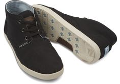 Toms Paseos (Mens)- Black. Also available in Grey.