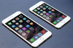 Apple's newest phones: iPhone 6 Plus and the iPhone 6. Photo by Tom Krazit/Gigaom